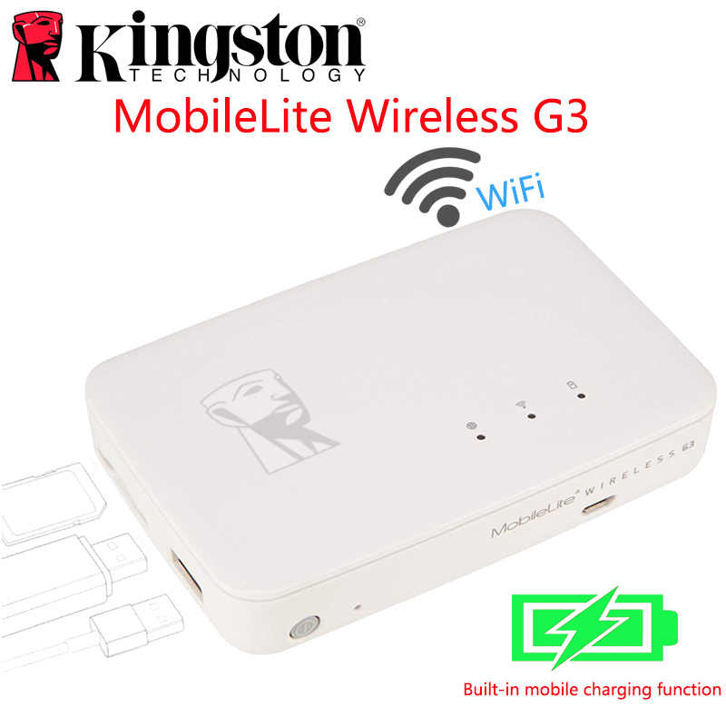 Kingston MobileLite G3 5,400 mAh Battery Power Bank Multifunction wifi Wireless MLWG3 for iPhone, iPad, Samsung Galaxy Storage