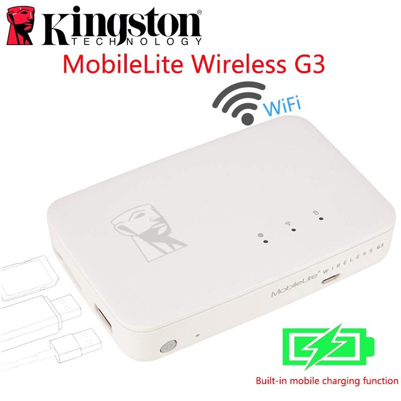 Kingston MobileLite G3 5,400 mAh batterie batterie externe multifonction wifi sans fil MLWG3 pour iPhone, iPad, Samsung Galaxy stockage