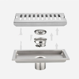 Image 5 - LEDFRE duş drenaj 304 paslanmaz çelik duş zemin uzun lineer drenaj drenaj kanalı için otel banyo mutfak Frool LF66009