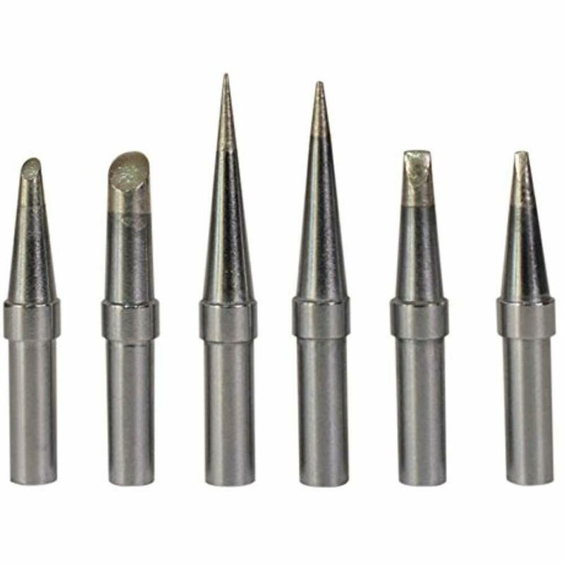 6 Pcs Replacement ET Soldering Iron Tips For Weller WE1010NA / WESD51/ WES50/51