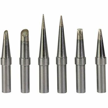6Pcs ET Lead Free Soldering Iron Tips Replacement For Weller WE1010NA / WESD51/ WES50/51 Soldering Repair Station