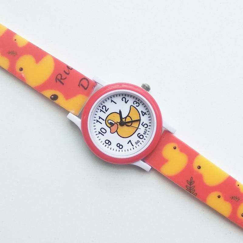 Hbibi Brand Girls Watches Kids Daily Waterproof Cartoon Duck Boy Watch Children Students Clock Electronic Quartz Wristwatches