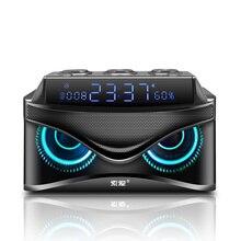 SOAIY S68 3 スピーカーのサブウーファーの Bluetooth スピーカー 25 ワット 2000 led ディスプレイプレミアムポータブルワイヤレス Bluetooth スピーカー