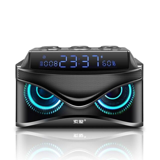 SOAIY S68 Three Speakers Subwoofer Bluetooth Speaker 25W 2000mAh LED Display Premium Portable Wireless Bluetooth Speaker
