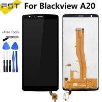 블랙 5.5 ''blackview a20 lcd 디스플레이 + 터치 스크린 디지타이저 어셈블리 blackview a20 디스플레이 lcd 예비 부품 + 도구