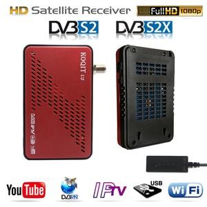 Koqit u2 satellit receiv Receptor DVB-S2 DVB-S2X satellite tv receiver iPTV wifi Finder DVB S2 Decoder Scam /iks Biss VU Youtube(China)