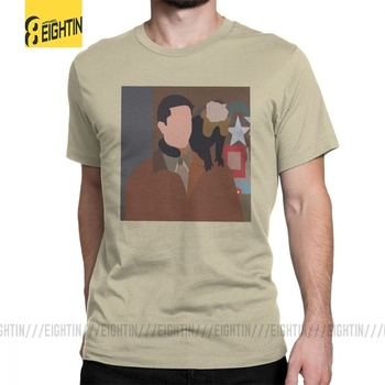 Friends TV T-Shirts Ross And Marcel T Shirt Men Black Clothes Vintage Round Neck Pure Cotton Tee Shirt image