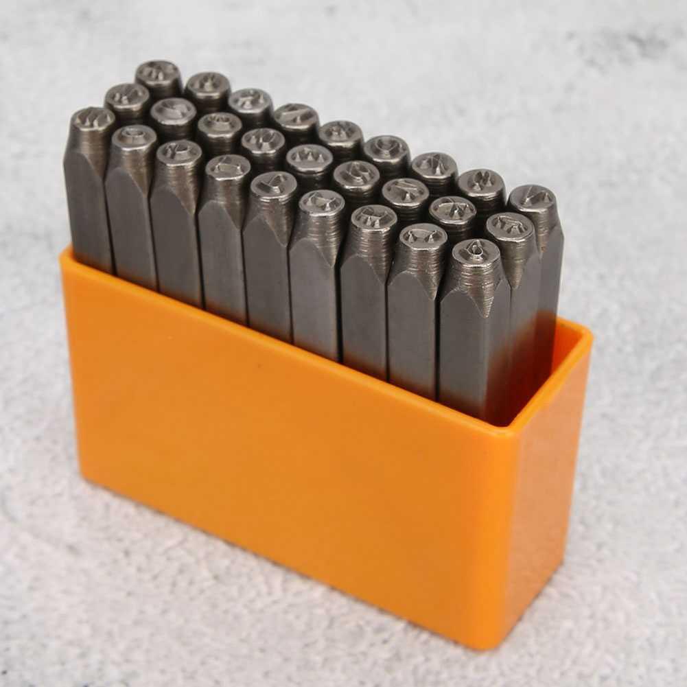 ستامينغ رسالة طقم للثقب الكربون SteelChrome مطلي رسالة ختم طقم للثقب الخشب والمجوهرات اللكم