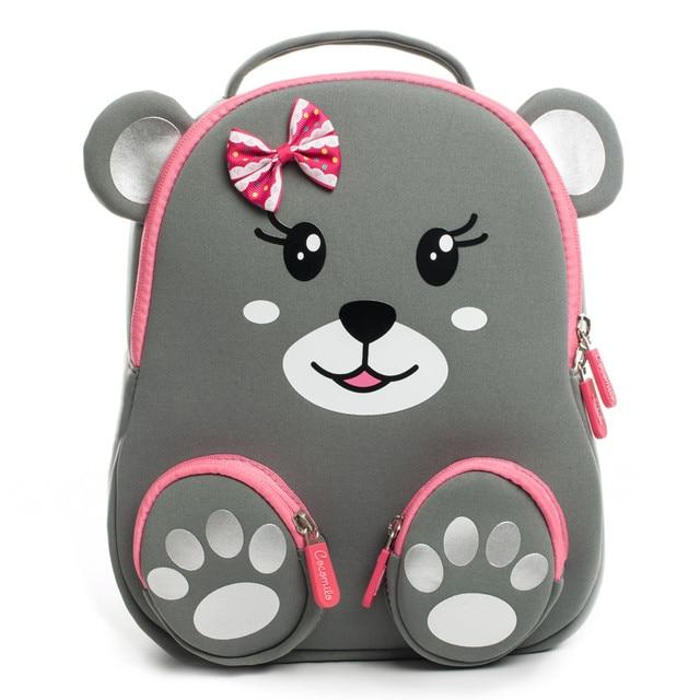 Cocomilo 브랜드 만화 곰 인쇄 학교 가방 소녀 유치원 어린이 3D 동물 배낭 Satchel 소년 어린이 Mochila Infantil