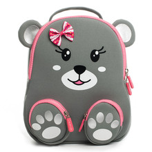 Cocomilo Brand Cartoon Bear Print School Bags for Girls Kindergarten Kids 3D Animal Backpack Satchel Boys Child Mochila Infantil