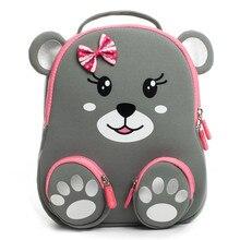 Cocomilo marka karikatür ayı baskı kızlar için okul çantaları anaokulu çocuklar 3D hayvan sırt çantası Satchel erkek çocuk Mochila Infantil