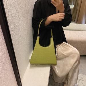 Image 5 - ワニのパターン女性のための 2020 の高級ハンドバッグ女性のバッグデザイナー pu レザーヴィンテージの女性のエレガントなトートバッグ