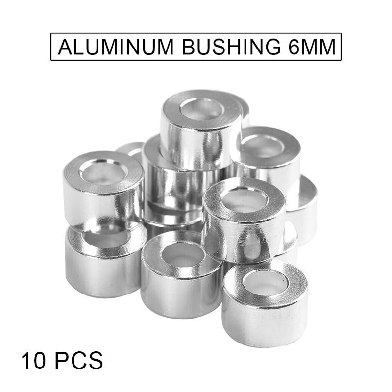 10Pcs Column Flat Gasket Aluminum Bushings 6mm For CNC Build 3D Printer DQ-Drop