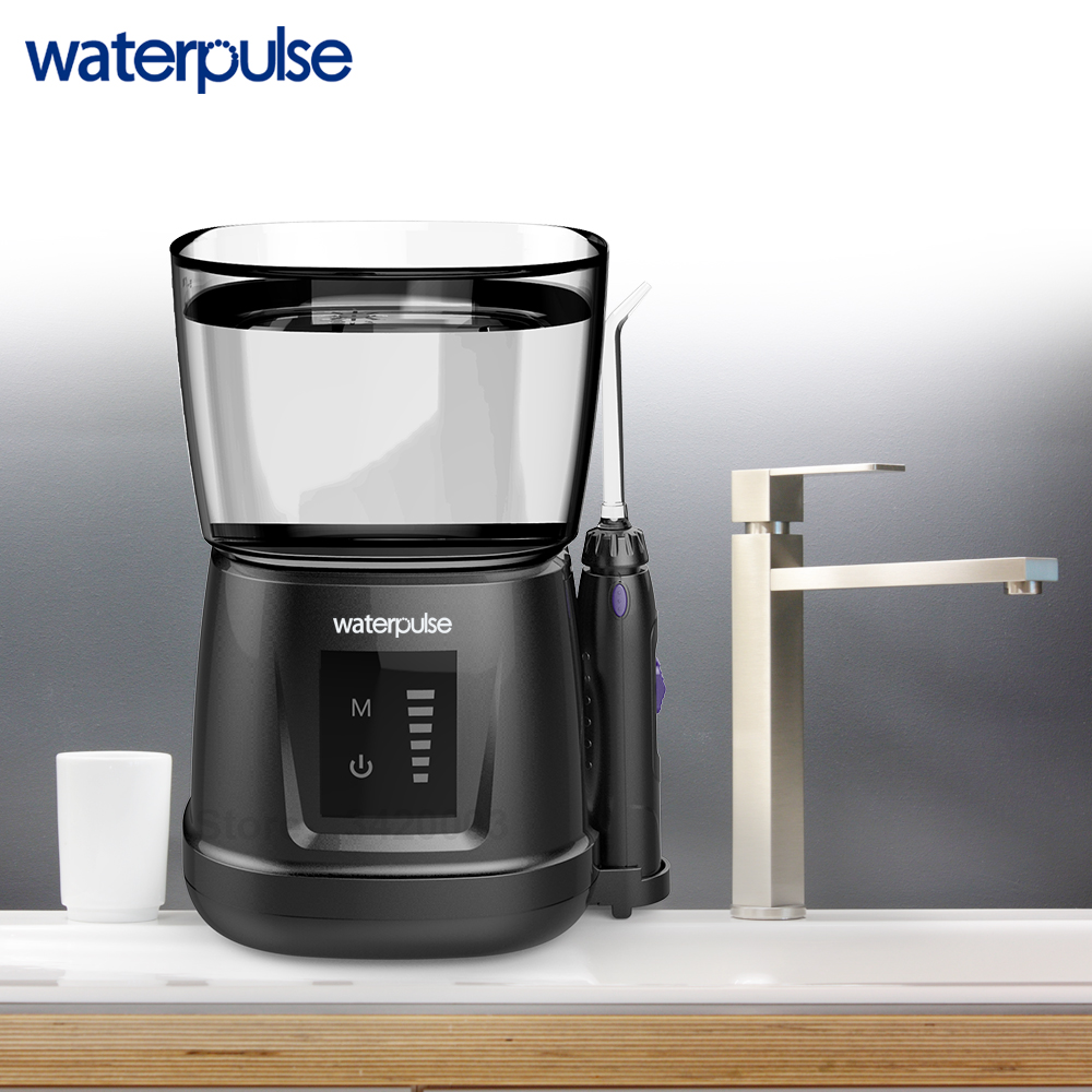 Image 3 - Waterpulse V700P New Water Flosser 1000ml Capacity Oral Irrigator Traveler Portable Dental Oral Flosser With 6pcs Jet Tips-in Oral Irrigators from Home Appliances