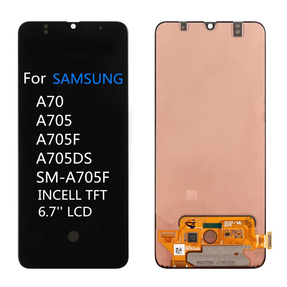Incell TFT for <font><b>Samsung</b></font> <font><b>A70</b></font> <font><b>LCD</b></font> screen display A705 A705F A705W A705FN/DS with touch with frame assembly Replacement repair parts image