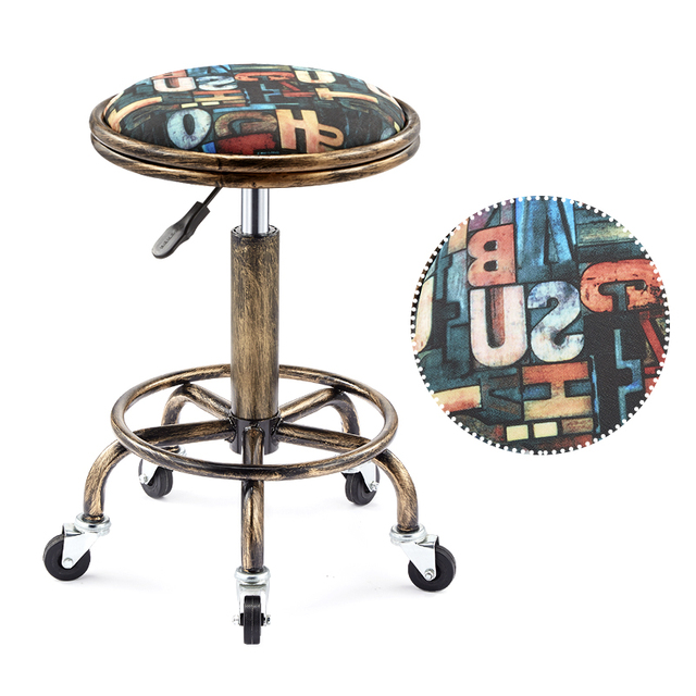 Beautifying stool lifting rotary hairdressing master stool anti-explosion corridor pulley round stool for hairdressing 1