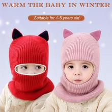 Hat Scarf Knitted Plush Girls Winter Warm And Boys Suit Child