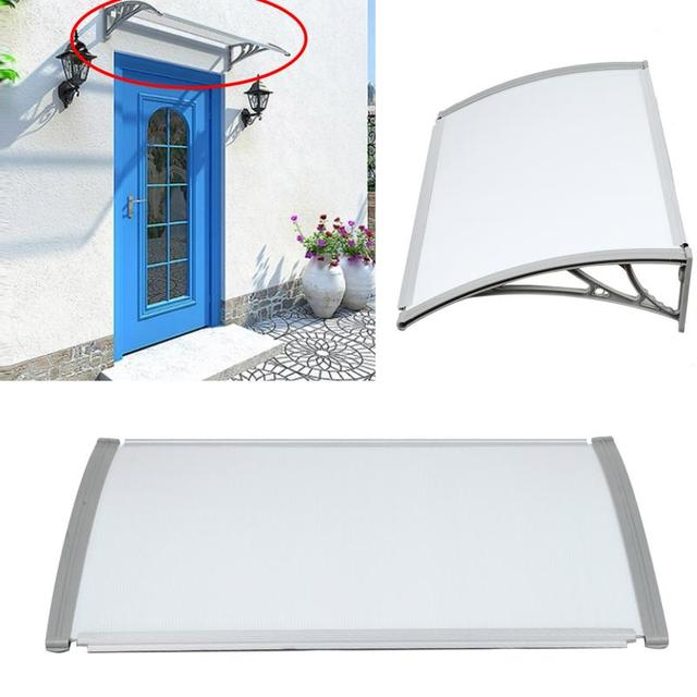 Patio Cover Gazebos Outdoor Front Door Window Awning Multi size Durable Door Canopy Awning Poly Carbonate