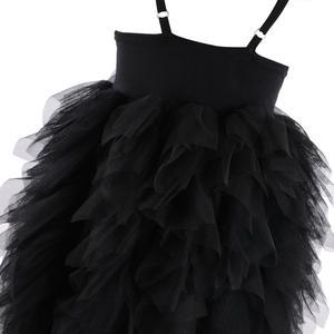Image 5 - Flofallzique Black Baby Girl Dress Sleeveless Kids Clothes Wedding Party Princess Tutu Sashes Frock For Children 1 8Year