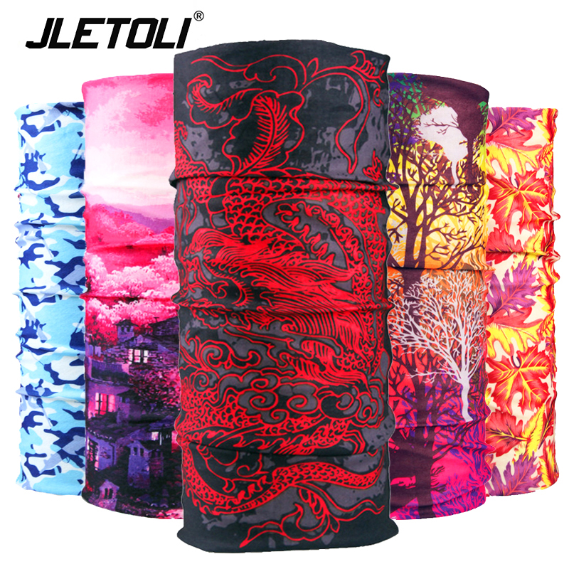 JLETOLI Windproof Sport Head Scarf Bike Magic Bandana Men Headbands Cycling Scarf Women Breathable Bicycle Scarf Face Mask