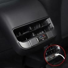 Porta de carregamento usb do carro à prova de poeira capa de proteção decoração interior para tesla modelo 3 carro-estilo modificação acessórios
