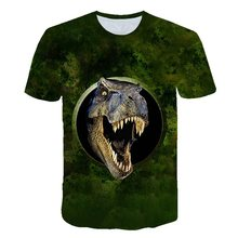 Jurassic Park 3D Printed Summer T-shirt Fun Gray and White Casual Men's T-shirt Jurassic World Black Short Sleeve Cosplay
