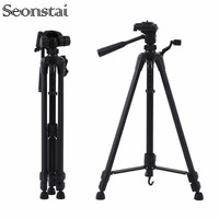 55inch Aluminum Camera Tripod Professional Portable Travel Camera Tripod Accessories Carrying Bag for Canon SLR DSLR Camera