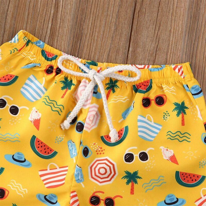 2020 kąpielówki dla dzieci pływanie strój kąpielowy spodenki plażowe drukowane dla dzieci chłopiec szybkie suche szorty plażowe Surfing spodnie plażowe 0-4T