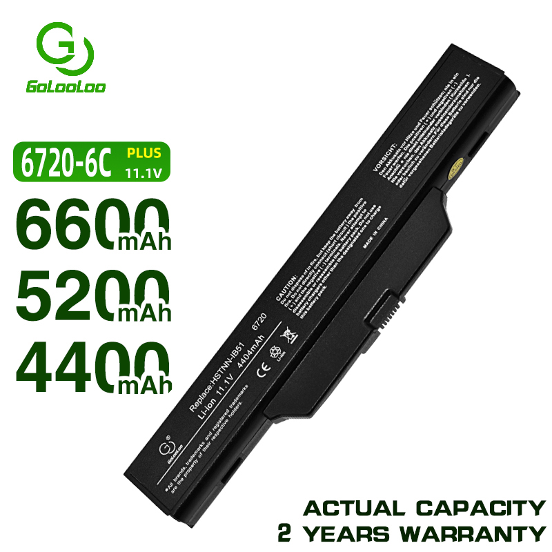 Golooloo battery for COMPAQ 610 510 511 615 for <font><b>HP</b></font> 550 Business Notebook HSTNN-IB51 6720s 6730s 6735s 6830s <font><b>6820s</b></font> HSTNN-IB62 image