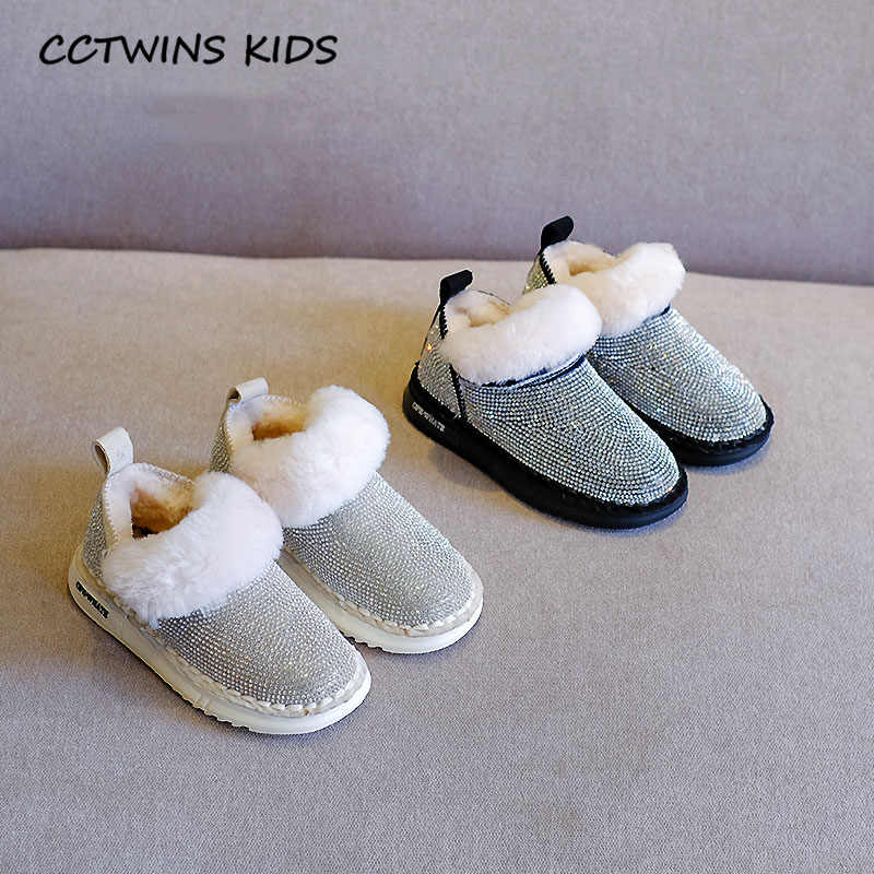 Çocuklar kısa çizme ayakkabı 2019 kış çocuk moda Rhinestone kar botları bebek kız kısa çizmeler Toddler siyah sıcak ayakkabı SNB143