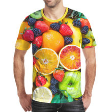 Цельный Лидер продаж Футболка с принтом свежих фруктов 3d футболка