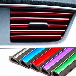 10pcs/lot Car-styling Plating Air Outlet Trim Strip Interior Air Vent Grille Switch Rim Trim Outlet Decoration Strip DIY