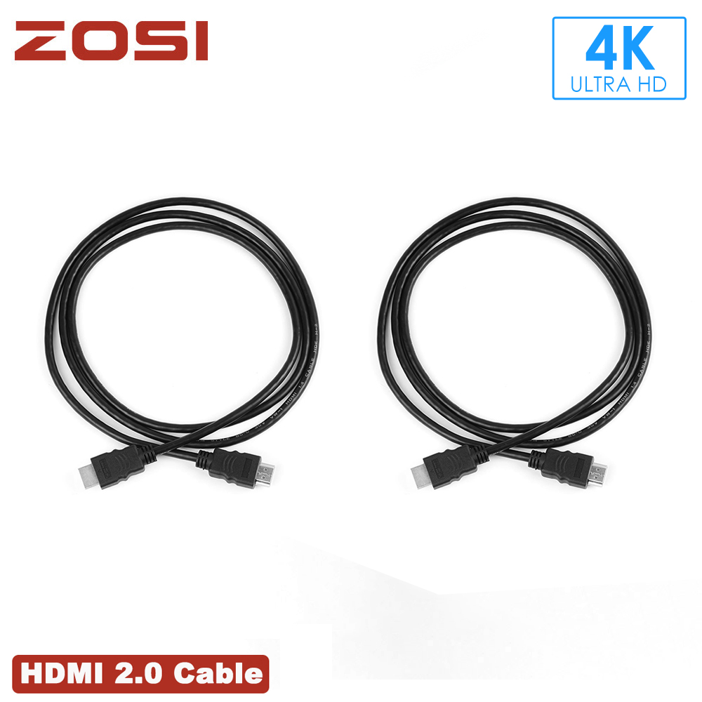 ZOSI HDMI Cable 2M Premium 1.4V 1.4 Version Gold Plated High Speed Videcam Cable Adapter For 1080P PS3 HDTV LCD