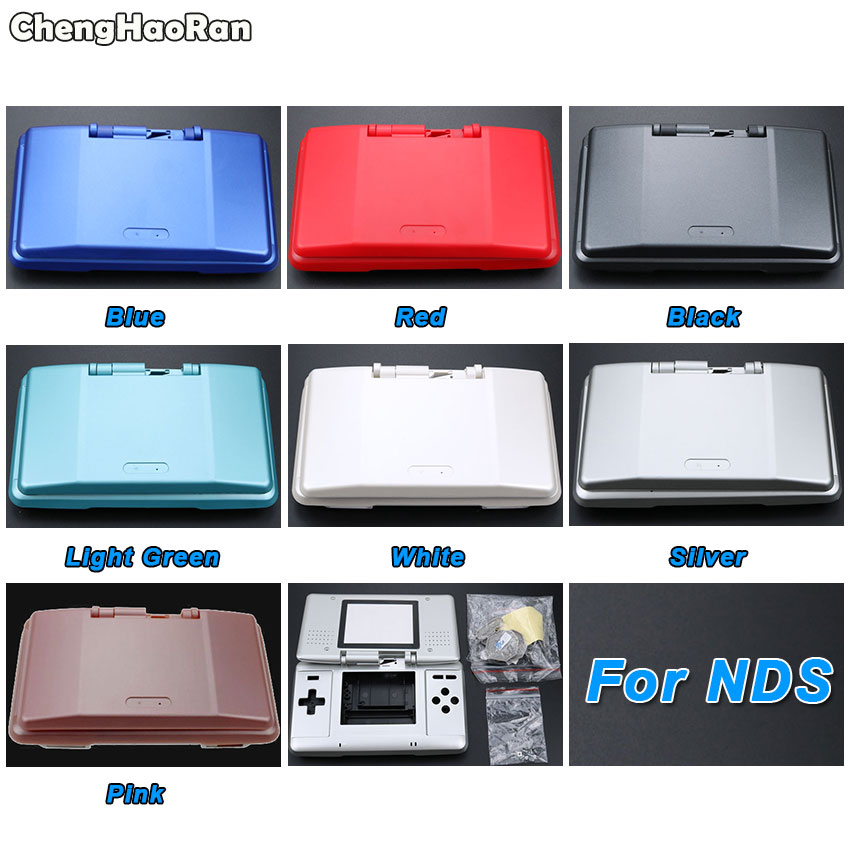 ChengHaoRan 7 Colors Optional Replacement Shell Housing Cover Case Full Set with Button for Nintendo DS for NDS Game Console