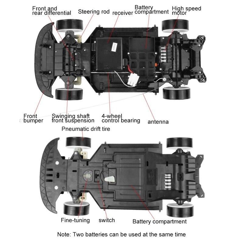 70 км/ч 1:10 высокоскоростной супер большой Радиоуправляемый пульт дистанционного управления высокоскоростной дрейфовый автомобиль (фиолето...