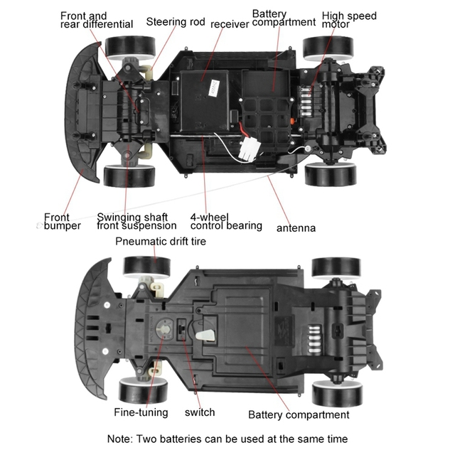 70Km/H 1:10 High Speed Super Large Rc Remote Control High Speed Drift Vehicle(Purple) 2