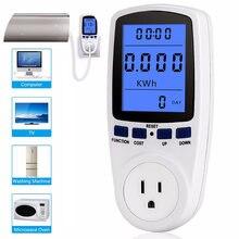 ZK30 220V AC de la UE Digital medidor de potencia LCD vatímetro hembra de potencia medidor de energía Kwh FR nosotros Reino Unido es BR de medición de potencia de salida analizador