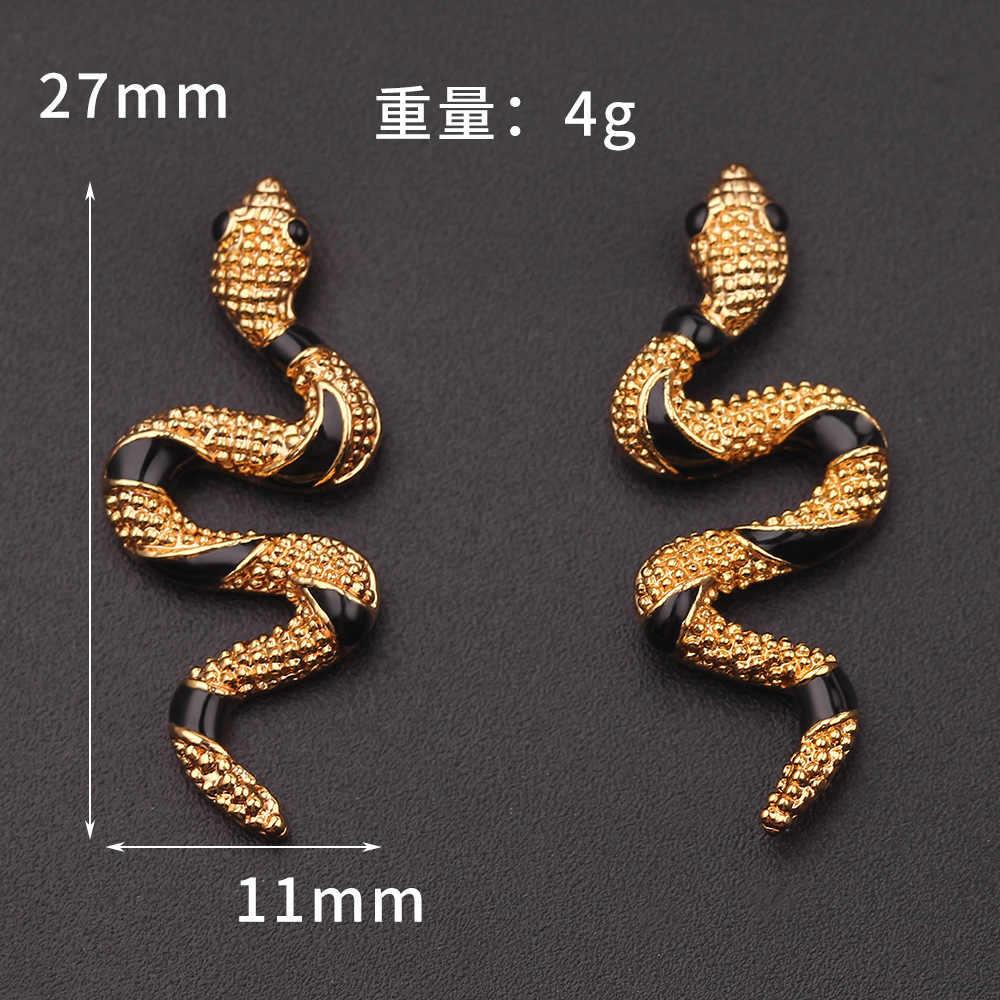 Jouval Personalisierte Schlange Stud Ohrringe Für Frauen Übertrieben Gold Silber Tier Ohrringe Brinco Punk Rock Weibliche Mode-Schmuck
