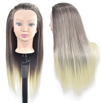 26 Hair Training Mannequin Head Practice Cosmetology Hair Doll Styling Hairdressing Mannequin Head with Hair 85% real human hair mannequin head for hair training styling practice professional hairdressing cosmetology doll head for braid
