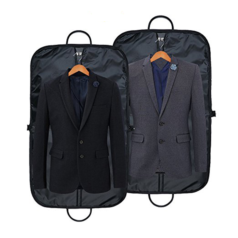 2018 Waterproof Folding Suit Bag Men Clothes Cover Black Oxford Garment Bags With Handle Business Men Travel Bags For Suits 204