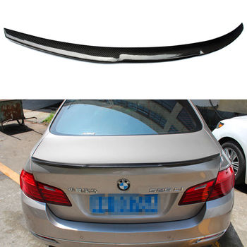 M4 Style F10 M5 Carbon Fiber Car Rear Body Kit Trunk Lip Spoiler Wing for BMW F10 M5 2010-2016 image