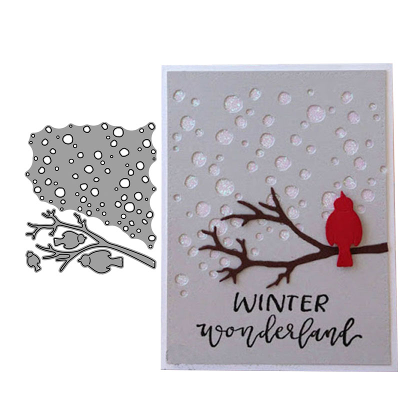 2019 New Arrival Snow Birds Branch Metal Cutting Dies 3D DIY Scrapbooking Carbon Sharp Craft Die Photo Invitation Cards Decorati|Cutting Dies|   - AliExpress