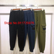 New Arrivals Side Pocket Patch Embroidery Sweatpants Men Women Army Green Sweatpant Casual Trousers Men