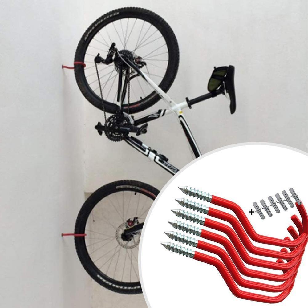 6Pcs Bicycle Cycling Bike Garage Wall Mount Storage Hook Hanger Stand Bracket US