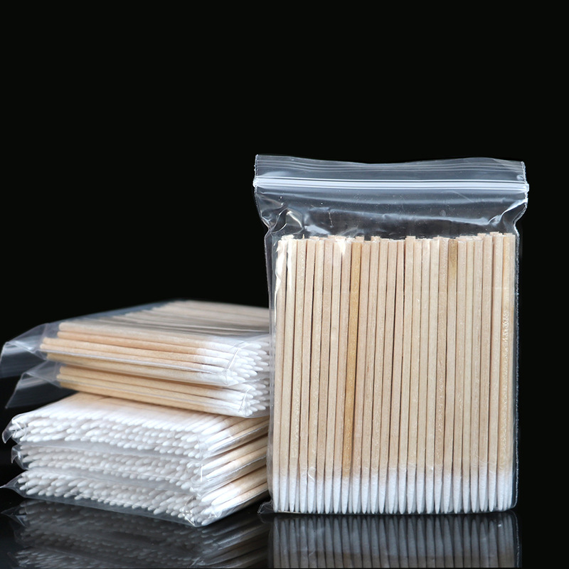 100pcs Tampons Permanent Makeup Cotton Cure Medical Health Microbrush Ear Cleaning Makeup Stick Pointed Swabs