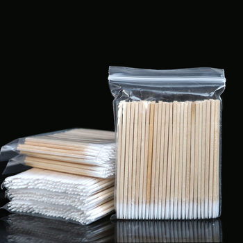100pcs tampons Permanent Makeup Cotton Cure Medical Health microbrush ear cleaning Stick Pointed swabs - sale item Sanitary Paper