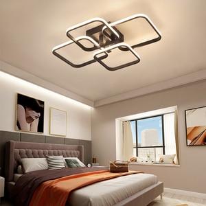 Image 5 - Square Circel Rings Ceiling Lights  For Living Room Bedroom Home AC85 265V Modern Led Ceiling Lamp Fixtures lustre plafonnier