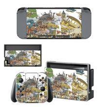 Pegatinas para Nintendo Switch, pegatinas de piel para consola Nintendo Switch, Studio Ghibli