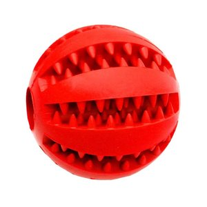 Puzzle dog teeth cleaning teeth missing ball snacks bite resistant stretch ball rubber pet toy balls