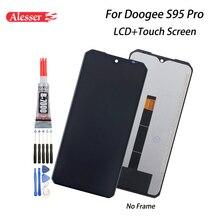 Alesser ل Doogee S95 برو شاشة الكريستال السائل شاشة تعمل باللمس الجمعية إصلاح أجزاء أدوات لاصقة ل Doogee S95 برو إكسسوارات للهاتف